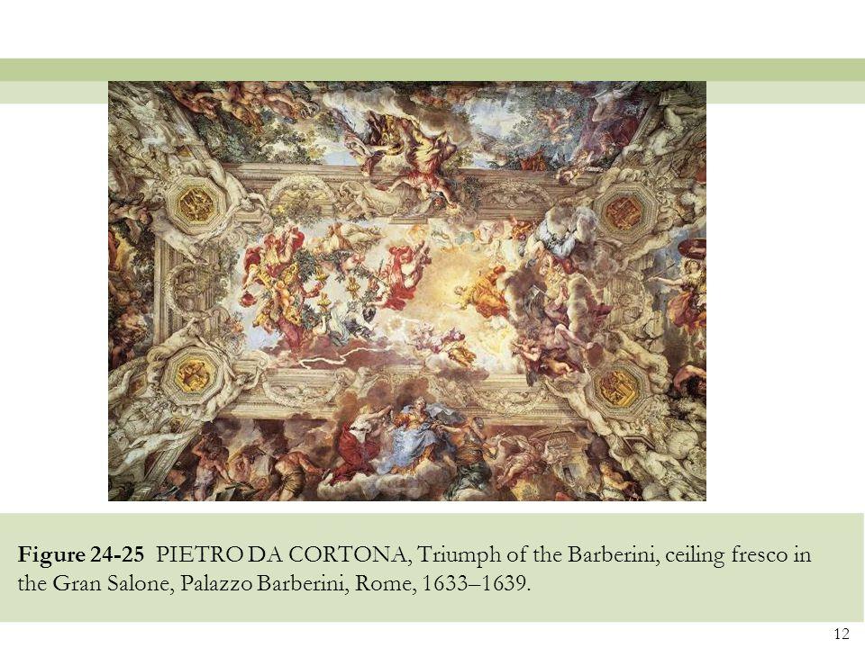 12 Figure 24-25 PIETRO DA CORTONA, Triumph of the Barberini, ceiling fresco in the Gran Salone, Palazzo Barberini, Rome, 1633–1639.