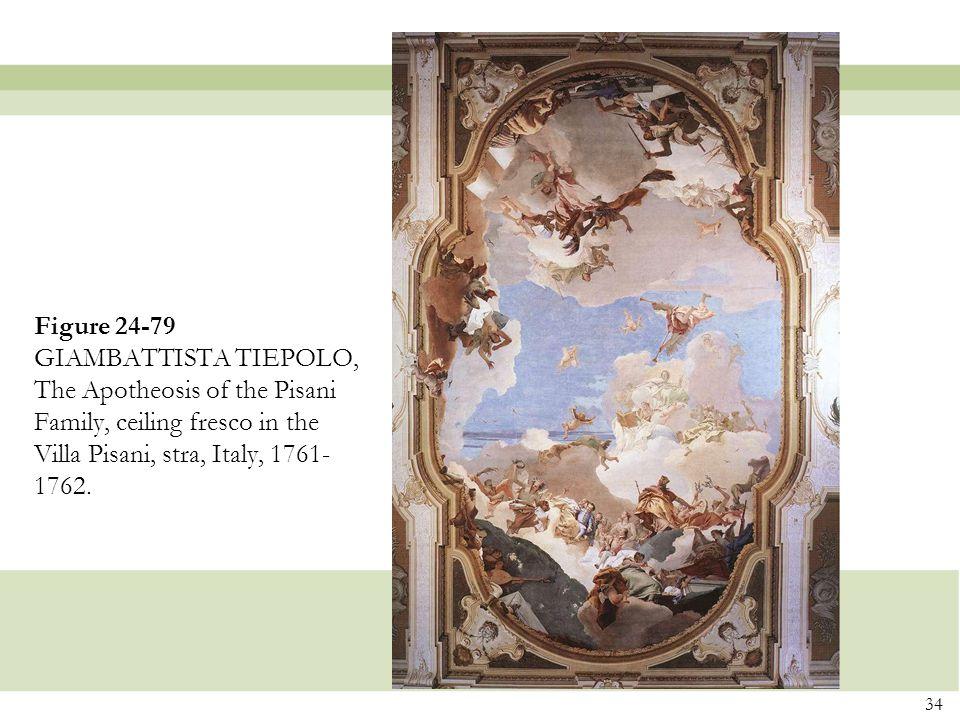 34 Figure 24-79 GIAMBATTISTA TIEPOLO, The Apotheosis of the Pisani Family, ceiling fresco in the Villa Pisani, stra, Italy, 1761- 1762.