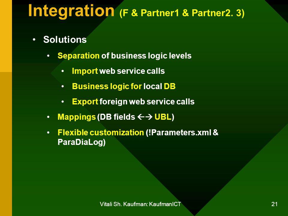 Vitali Sh. Kaufman: KaufmanICT 21 Integration (F & Partner1 & Partner2.