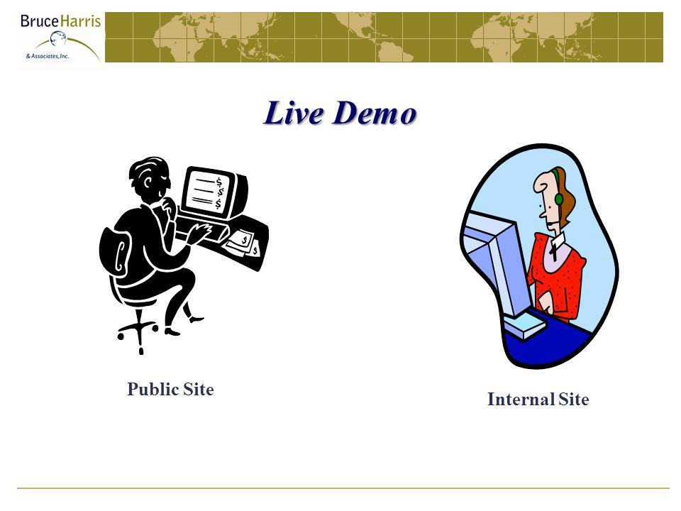 Live Demo Public Site Internal Site