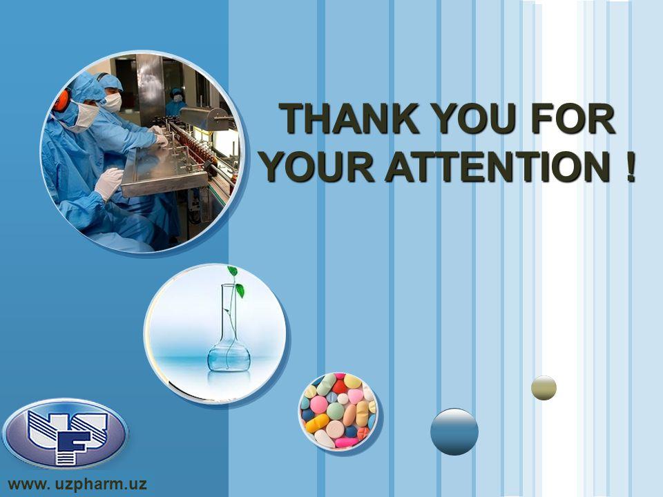 www.themegallery.com LOGO www. uzpharm.uz THANK YOU FOR YOUR ATTENTION !