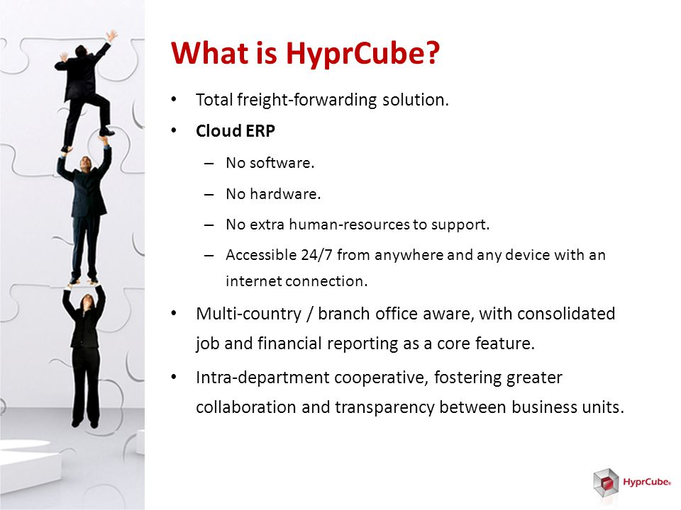 What is HyprCube. Total freight-forwarding solution.