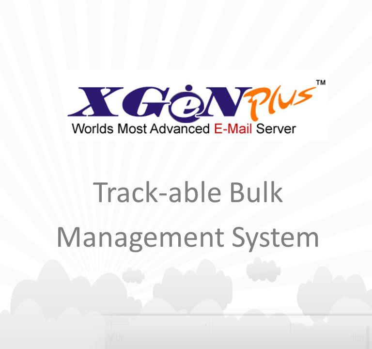 Track-able Bulk Management System