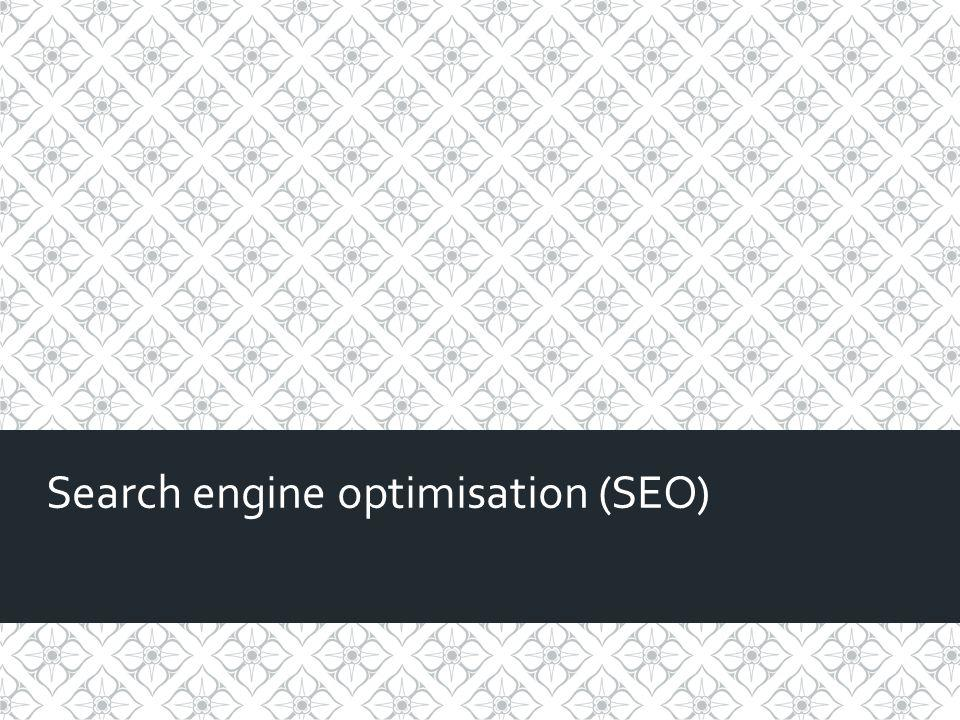 Search engine optimisation 10 You can use social media to promote news stories.