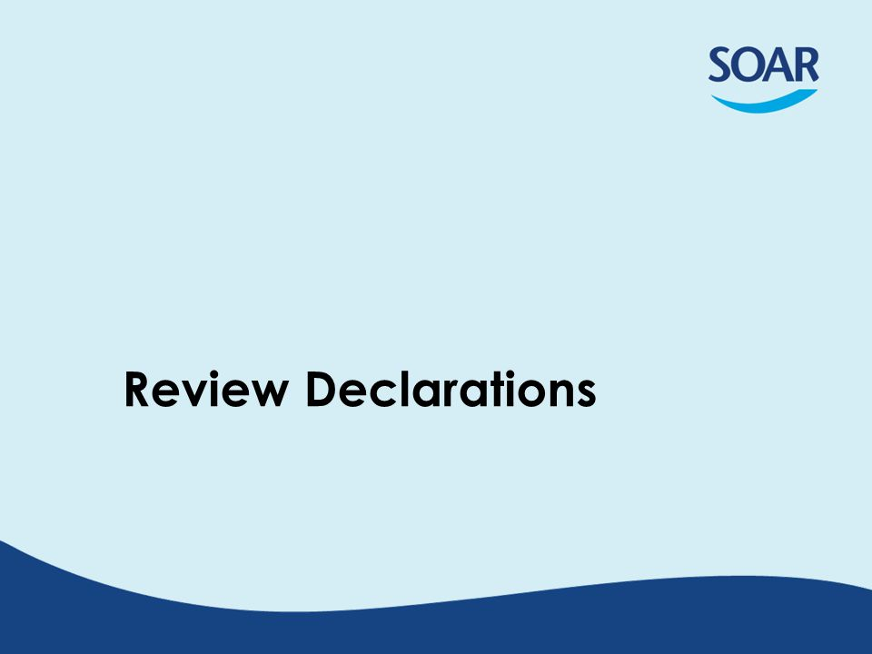 Review Declarations
