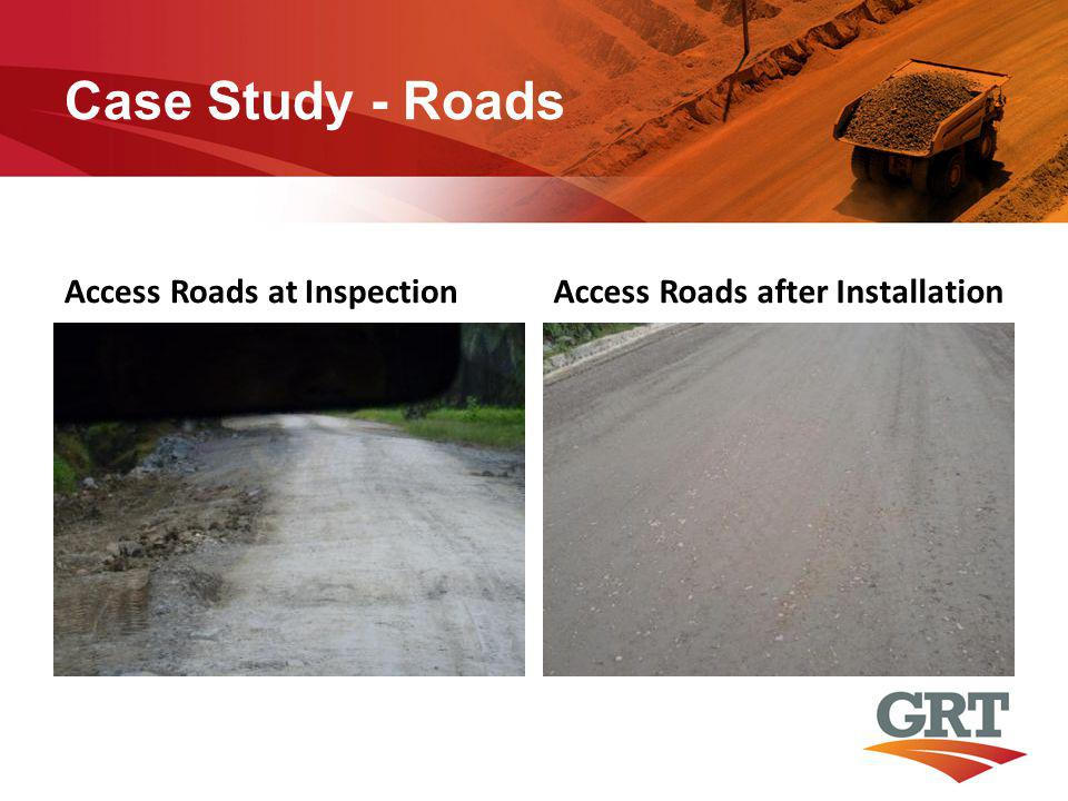 Case Study - Roads Access Roads at InspectionAccess Roads after Installation