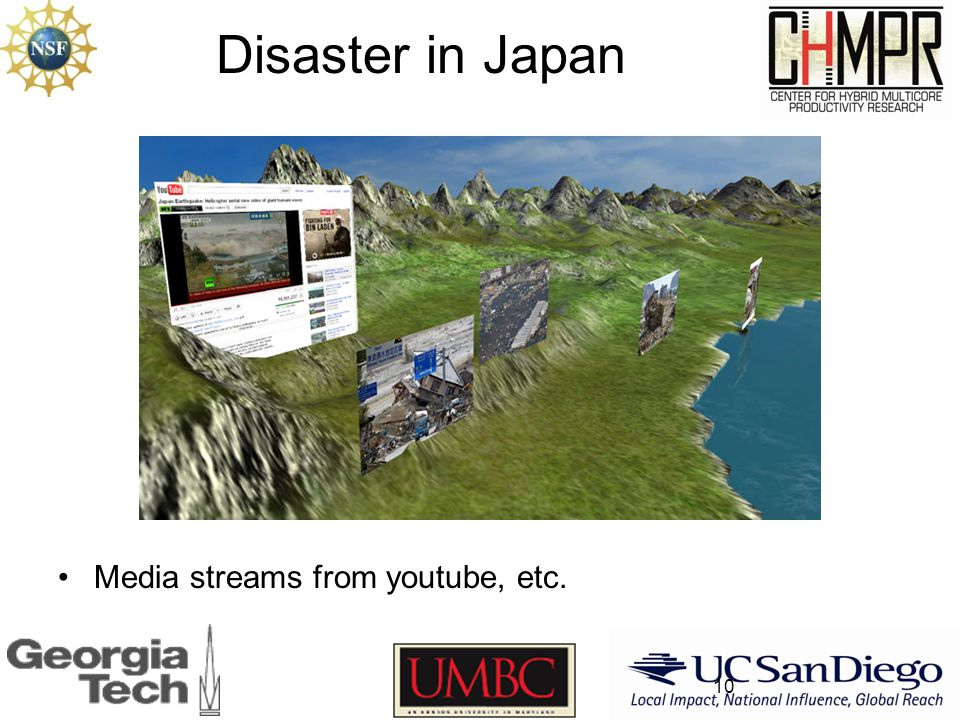 Disaster in Japan Media streams from youtube, etc. 10