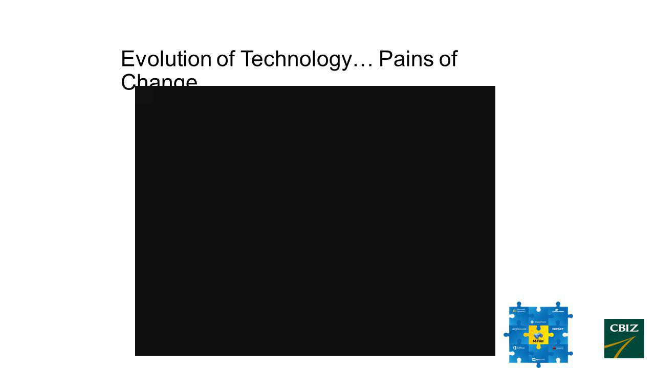 Evolution of Technology… Pains of Change…