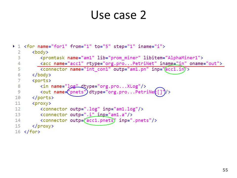 Use case 2 55