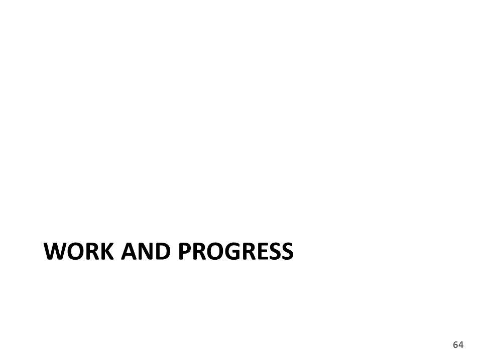 WORK AND PROGRESS 64