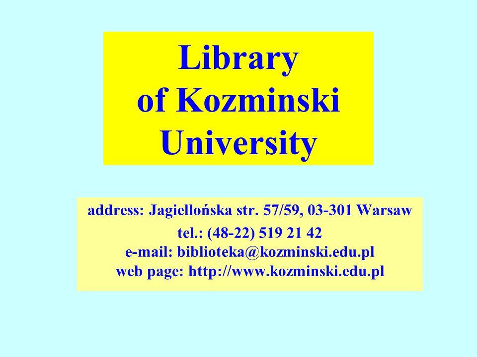 address: Jagiellońska str.