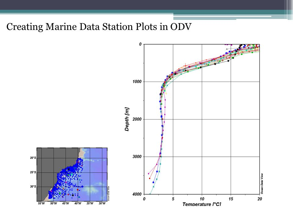 Creating Marine Data Station Plots in ODV