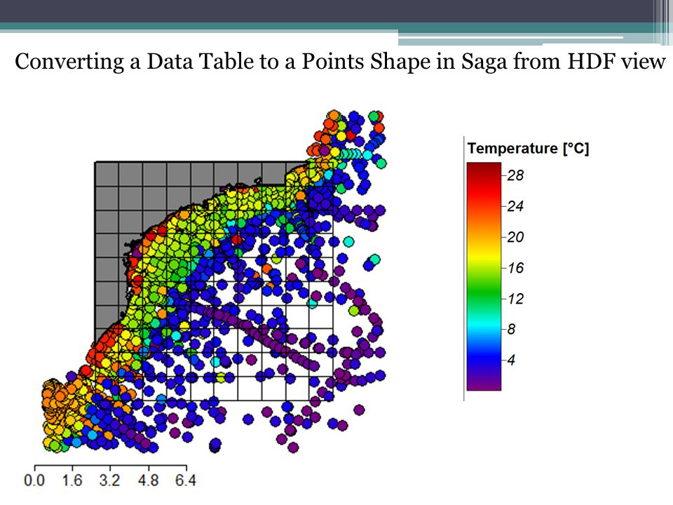 Converting a Data Table to a Points Shape in Saga from HDF view