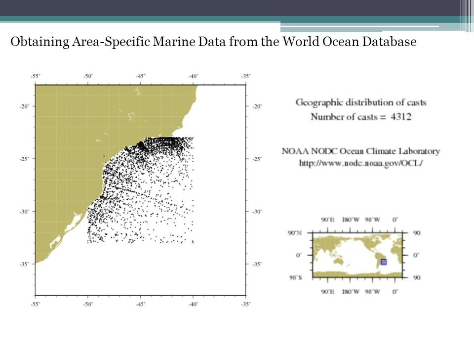 Obtaining Area-Specific Marine Data from the World Ocean Database