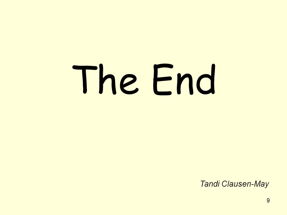 9 The End Tandi Clausen-May