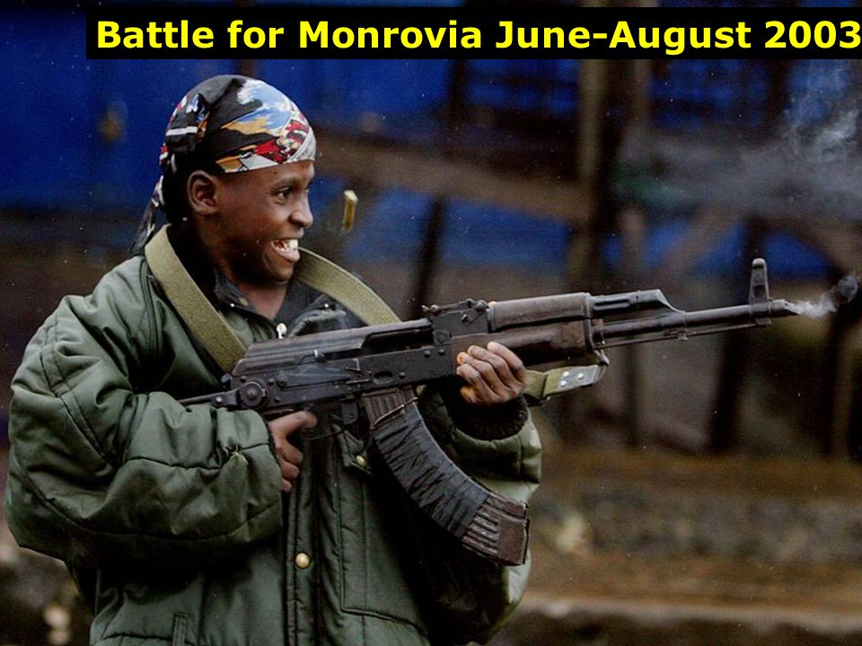 Child Soldier Battle for Monrovia June-August 2003