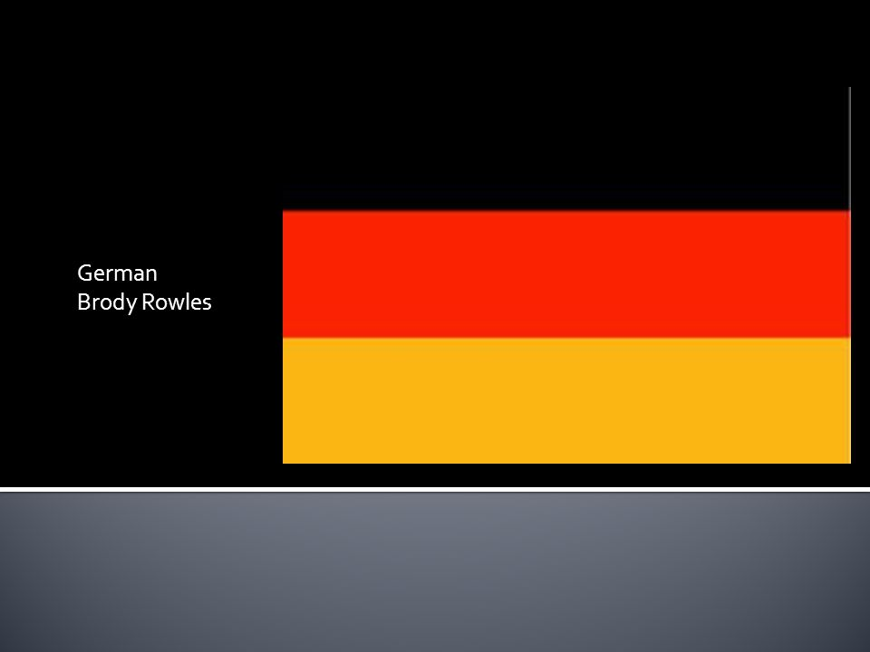 German Brody Rowles