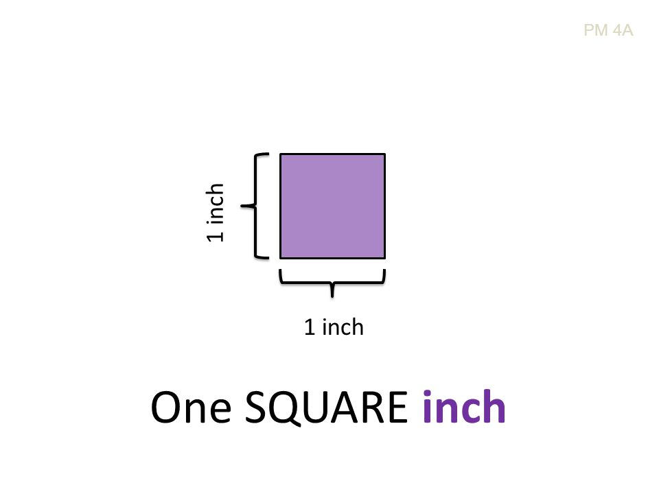 1 inch One SQUARE inch PM 4A