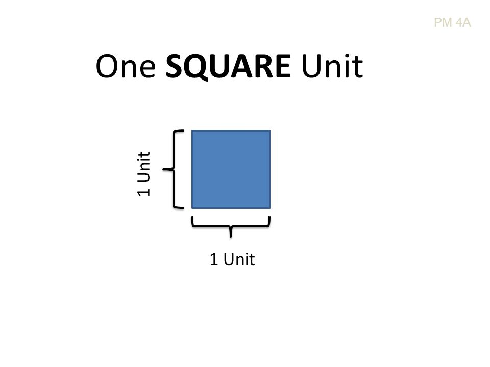 1 Unit One SQUARE Unit PM 4A