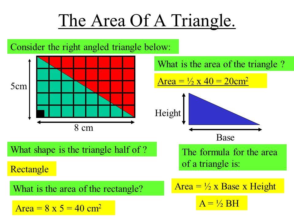 The Area Of A Triangle.