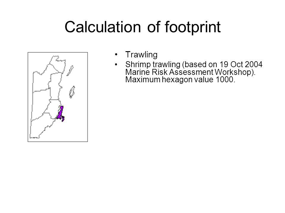 Trawling Shrimp trawling (based on 19 Oct 2004 Marine Risk Assessment Workshop).