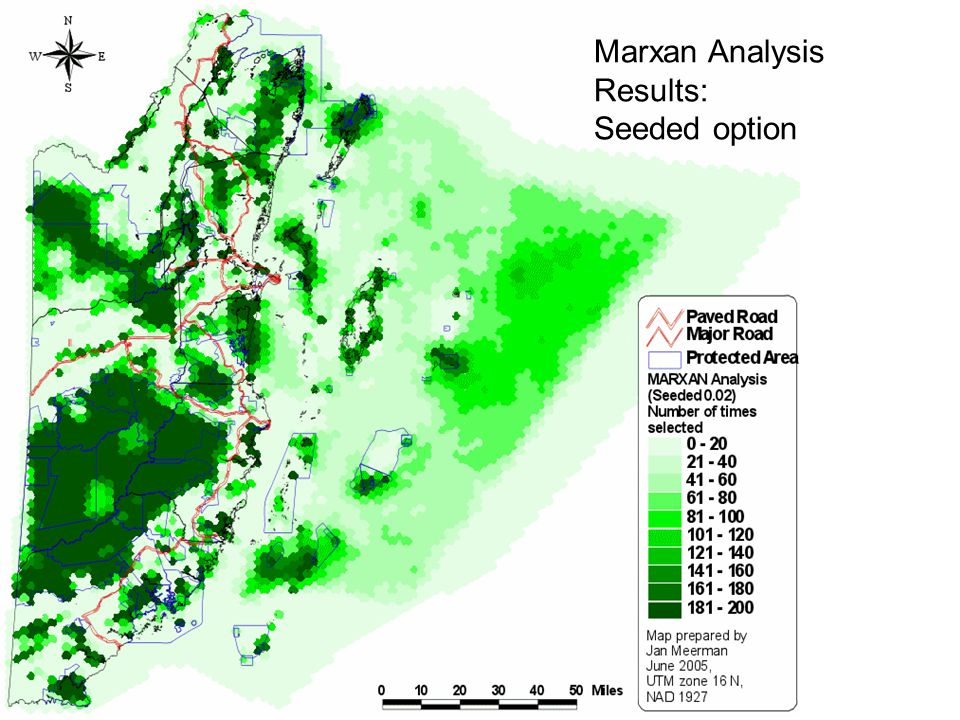 Results: Marxan Analysis Results: Seeded option