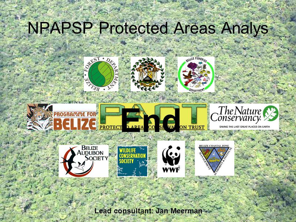 NPAPSP Protected Areas Analys Lead consultant: Jan Meerman End