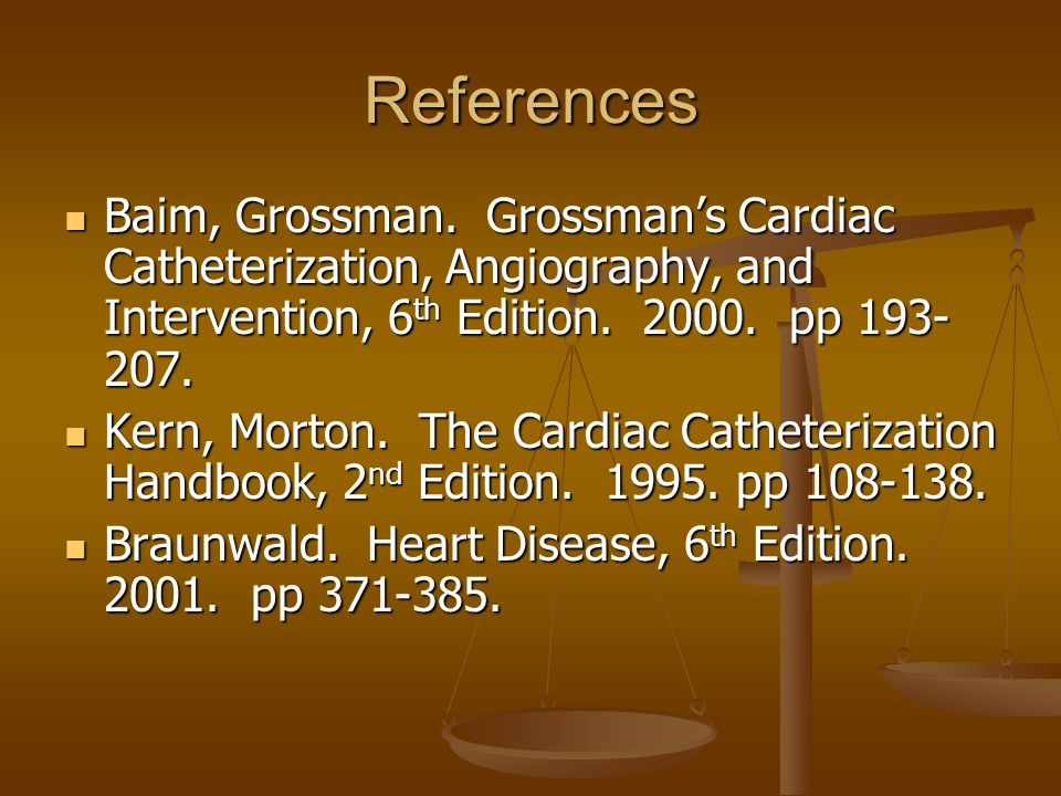 References Baim, Grossman.