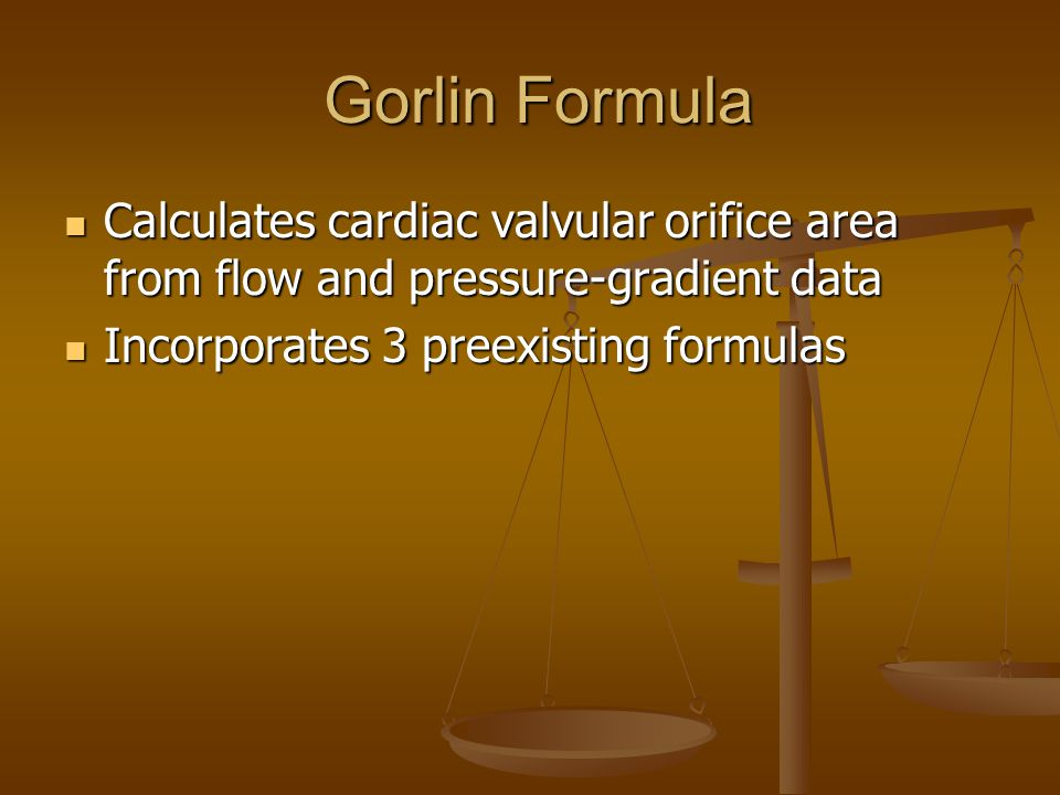 Calculating Aortic Valve Area (example) CO/(SEP)(HR) CO/(SEP)(HR) A = ---------------------------------------- A = ---------------------------------------- 44.3(C)(sq rt of pressure gradient) 44.3(C)(sq rt of pressure gradient)