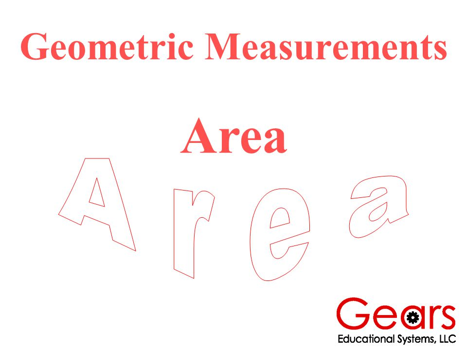 Geometric Measurements Area