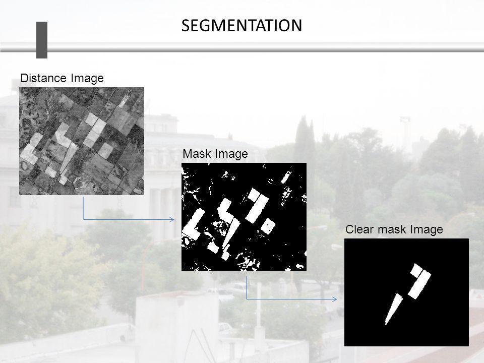 SEGMENTATION Distance Image Mask Image Clear mask Image