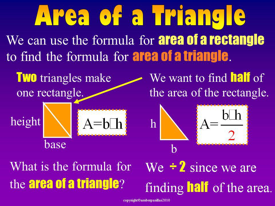copyright©amberpasillas2010 4 in 5 in 7 in 6 in Here is another way to look at the trapezoid formula.