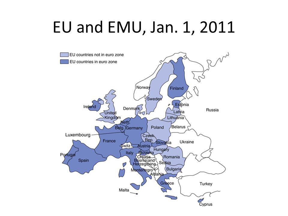EU and EMU, Jan. 1, 2011