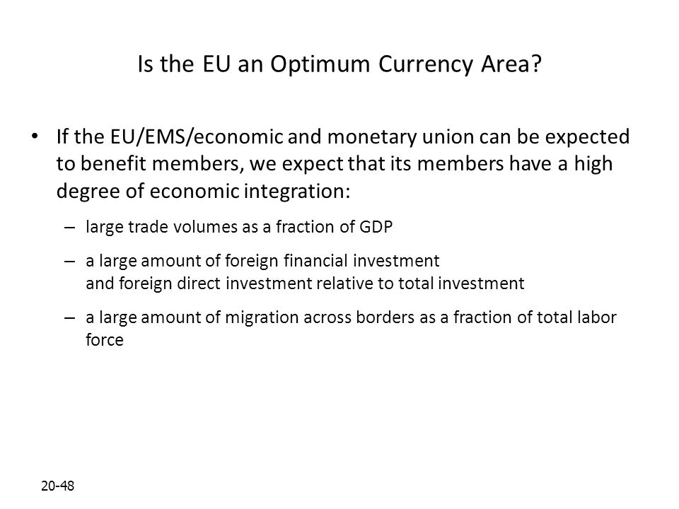 20-48 Is the EU an Optimum Currency Area.
