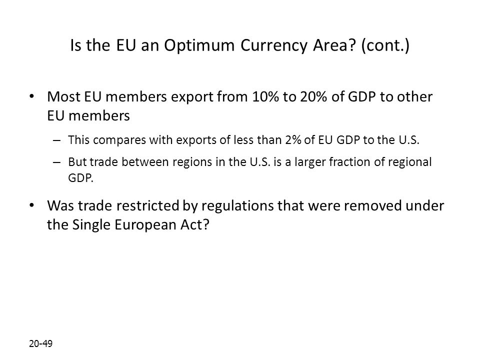 20-49 Is the EU an Optimum Currency Area.