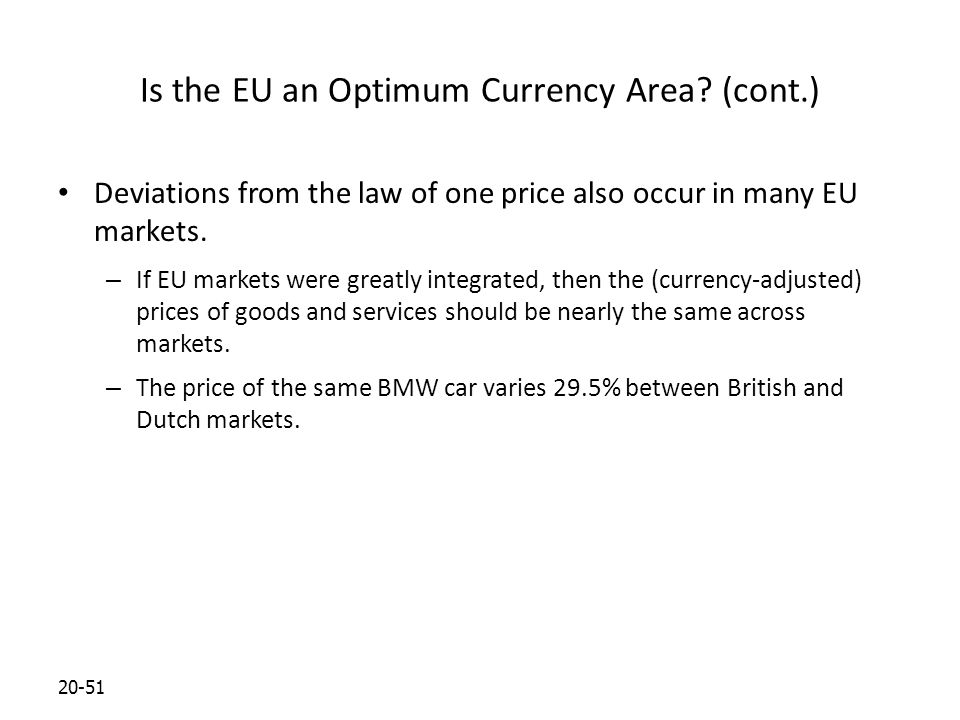 20-51 Is the EU an Optimum Currency Area.