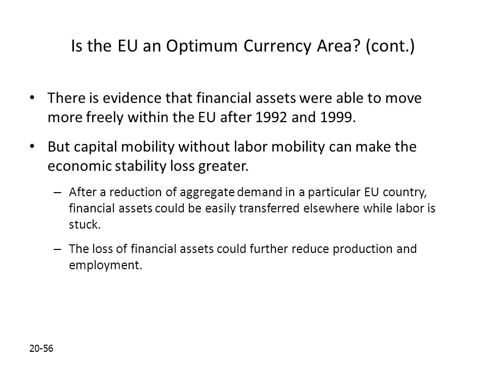 20-56 Is the EU an Optimum Currency Area.