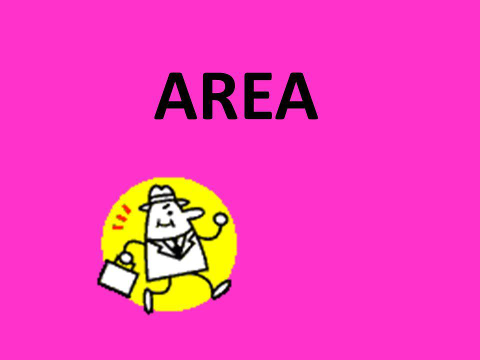 What is area.Area is the amount of ____________ that an object takes up.