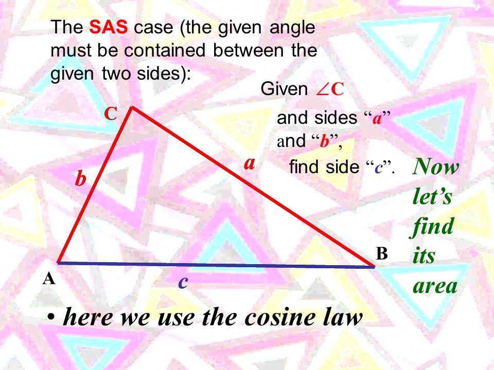 There are actually four conditions under which triangles can be proven to be congruent.