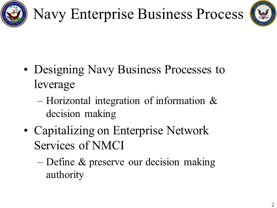 3 Functional Area Management Purpose: –Compare current and future business function opportunities to current applications Goal: –Improve Business Processes –Right mix of supporting technology Streamline quantity of applications Reduce cost of supporting Future Navy Business