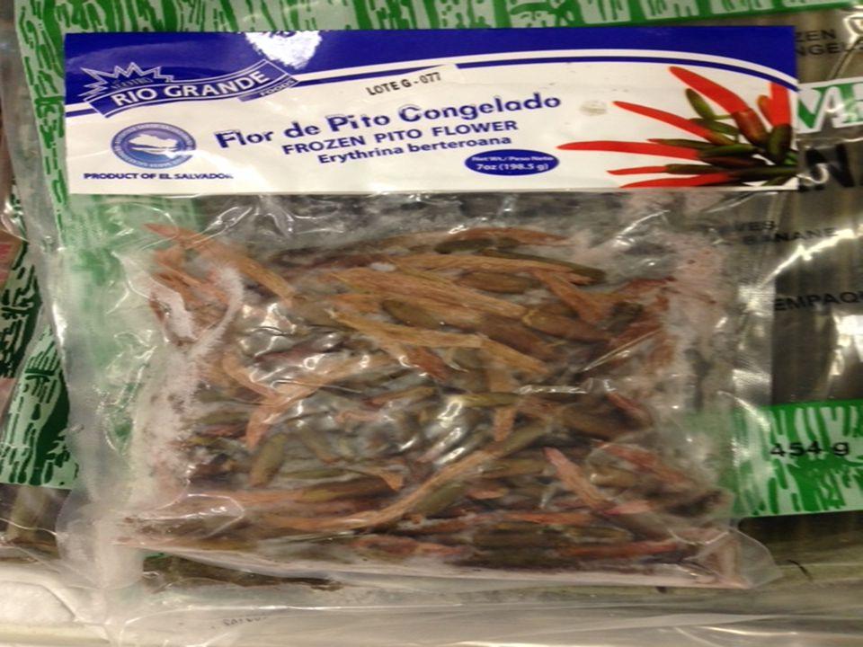 FLOR DE PITO CONGELADO 1.Flor de Pito Congelado is from El Salvador.