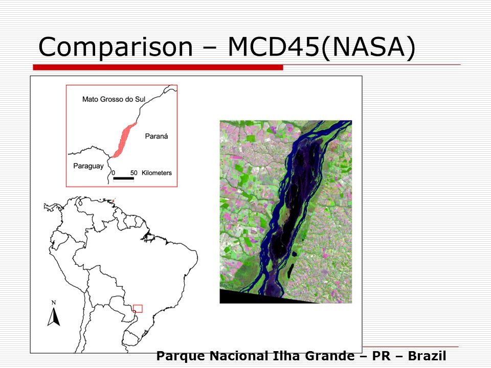 Parque Nacional Ilha Grande – PR – Brazil Comparison – MCD45(NASA)