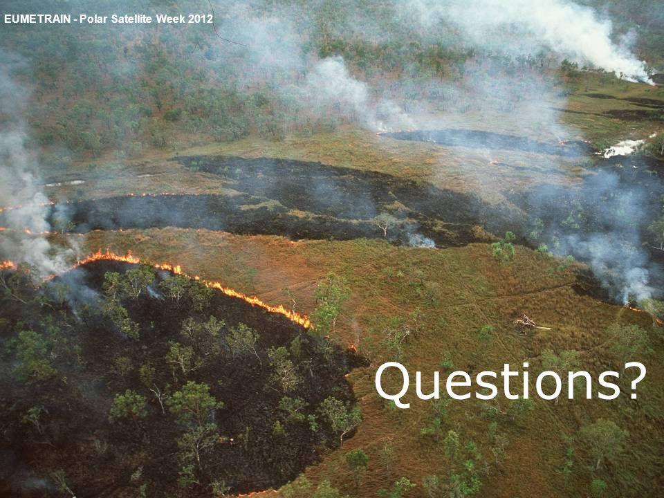 EUMETRAIN - Polar Satellite Week 2012 Questions?