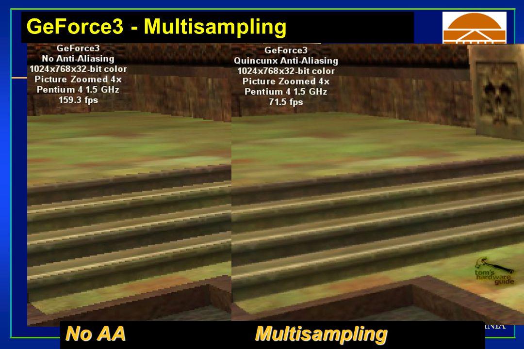 GeForce3 - Multisampling No AA Multisampling