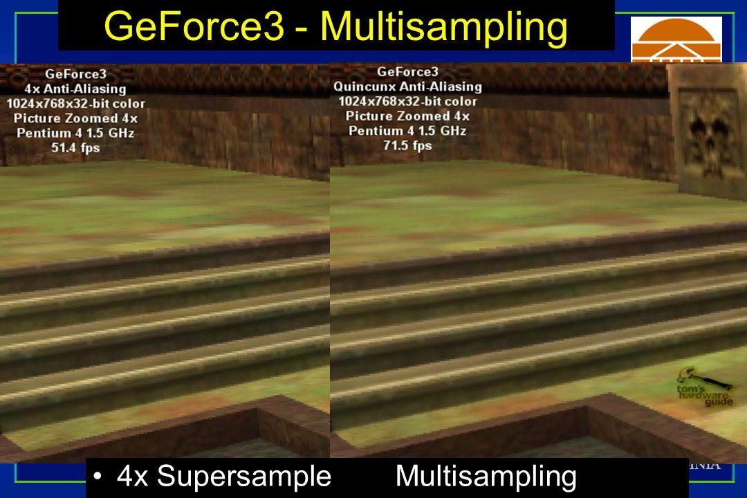 GeForce3 - Multisampling 4x Supersample Multisampling