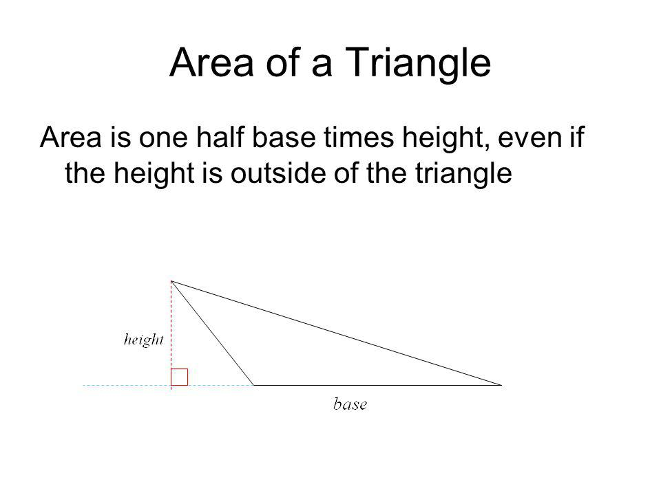 Find the Area Find the area of the Trapezoid height = 4 base 1 = 4 base 2 = 6