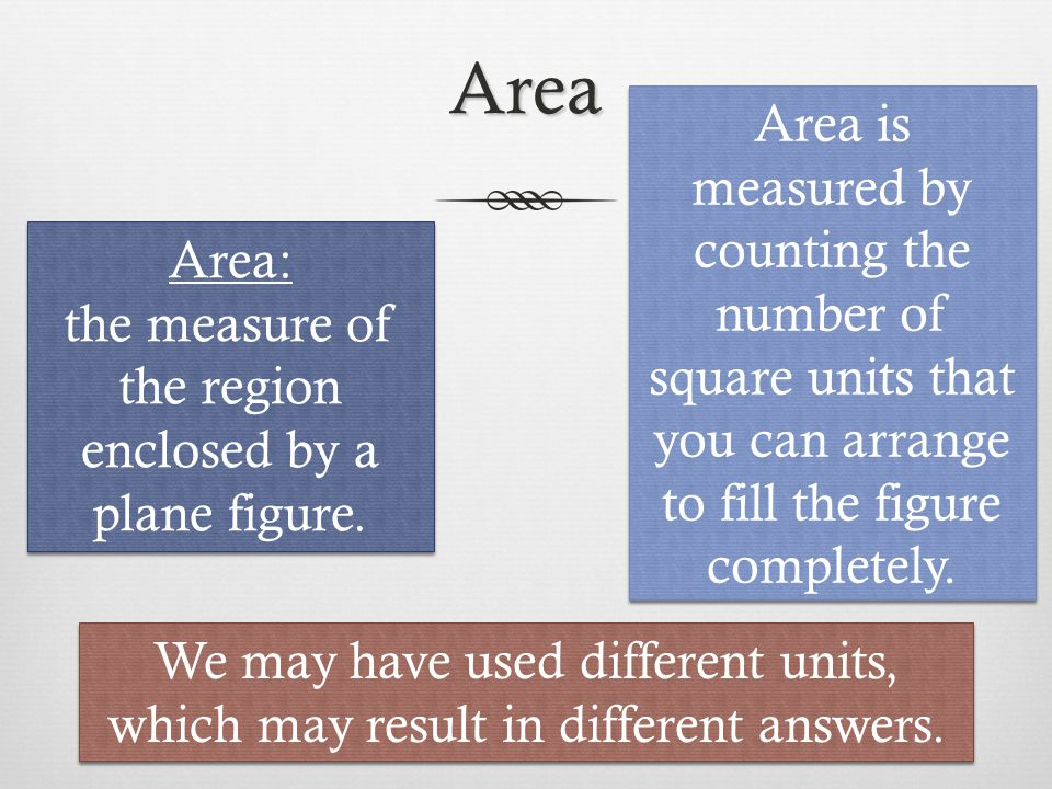 Units of Area 1 m 100 cm Area of 1m 2 What is the area in cm 2 .
