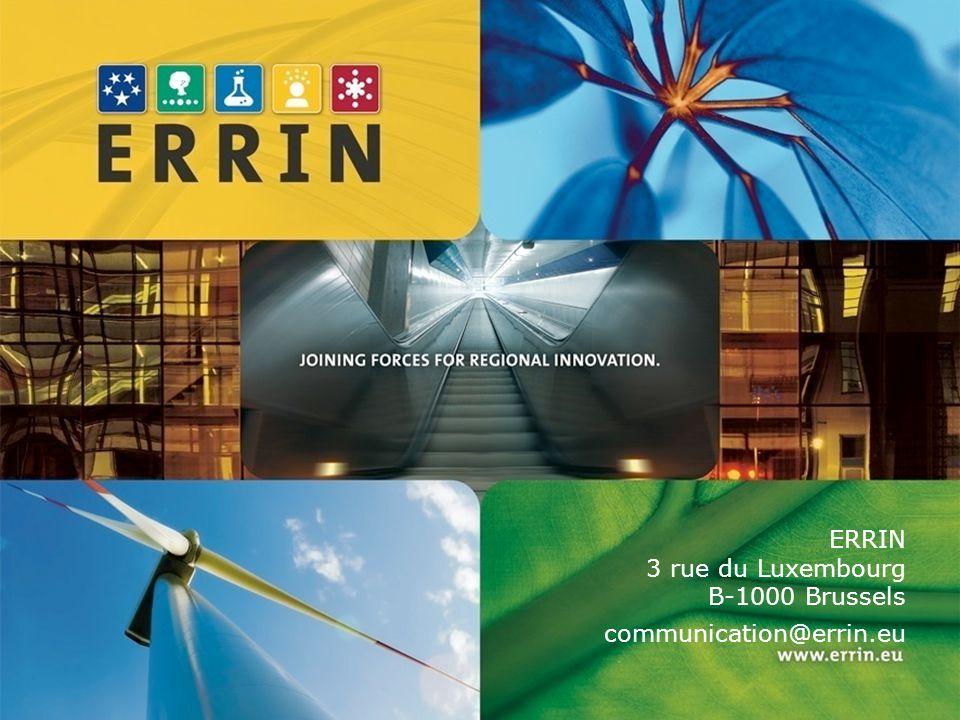 ERRIN 3 rue du Luxembourg B-1000 Brussels communication@errin.eu