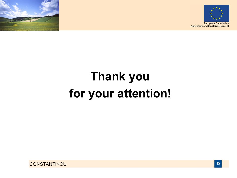 CONSTANTINOU 15 Thank you for your attention!