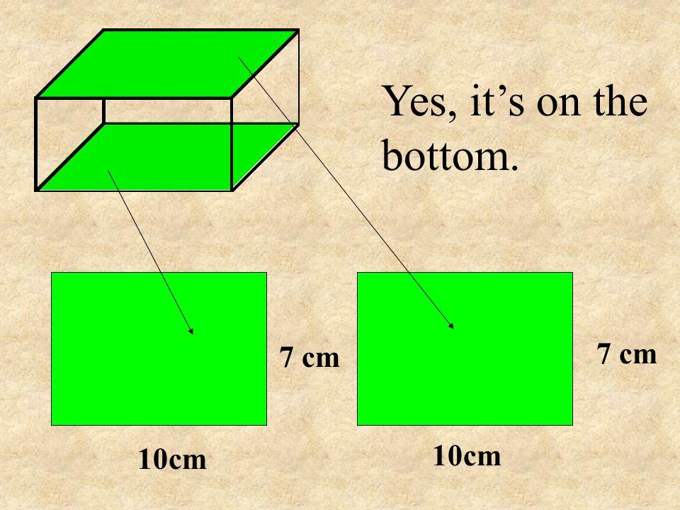 Yes, it's on the bottom. 10cm 7 cm 10cm 7 cm